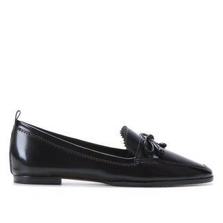 Mocassim Couro Shoestock Laço Feminino