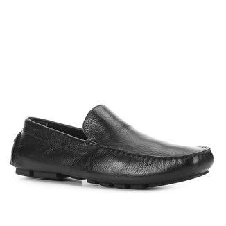 Mocassim Couro Shoestock Liso Masculino
