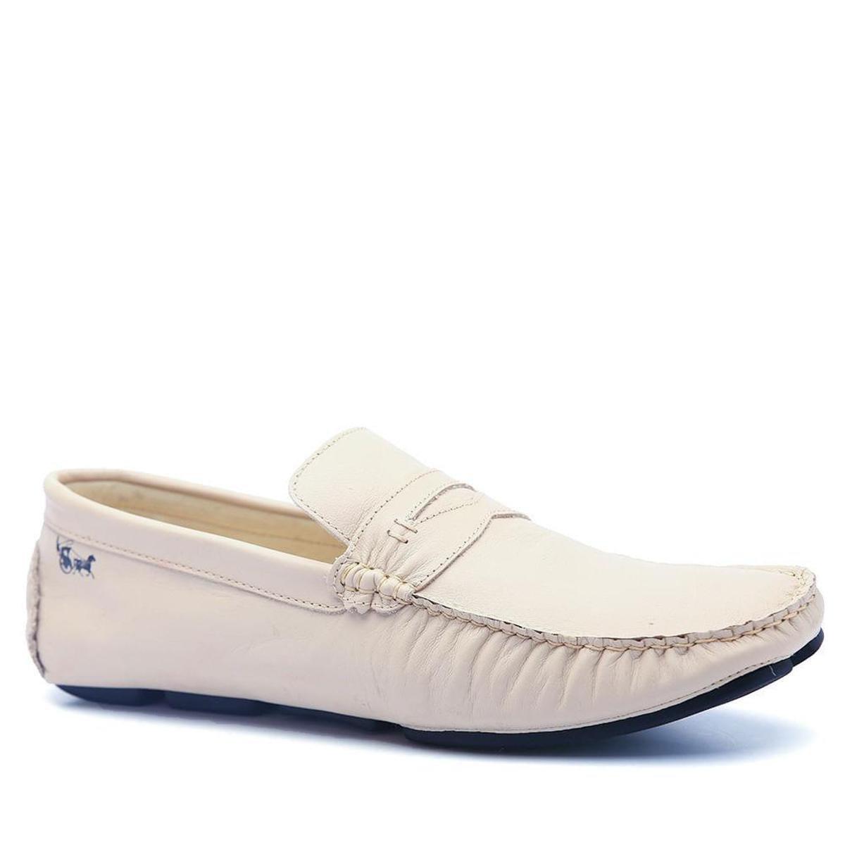 Mocassim Mocassim Doctor Masculino 803 Drive Shoes Branco Couro Drive rrUOHqF