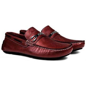 Mocassim Drive Couro Conforto Bordo Mif Shoes Masculino