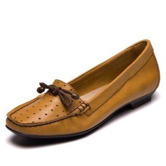 Mocassim Feminino Amarelo - 7211