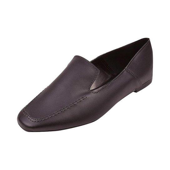 Mocassim Feminino Loafer Clássico Sapatteria - Preto