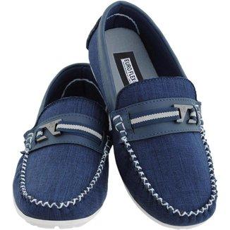 Mocassim Infantil Menino Jeans Macio Leve Confortável Kids