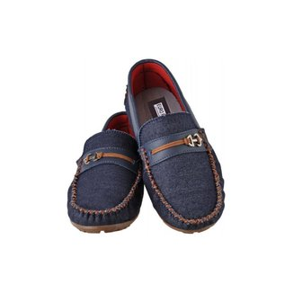 Mocassim Infantil Menino Macio Leve Jeans Confortável Kids