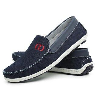 Mocassim Jeans Liso Conforto Dia A Dia Gouveia Costa Masculino