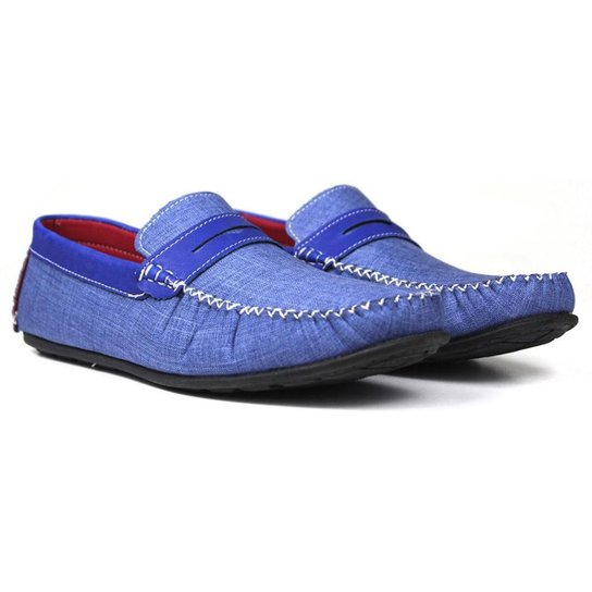 Mocassim Masculino Stinky Leve e Confortável - Cor - Azul