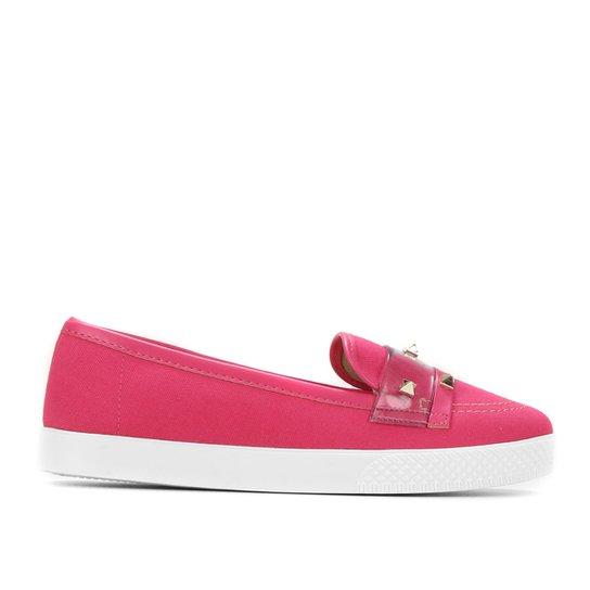 Mocassim Moleca Spikes Feminino - Pink