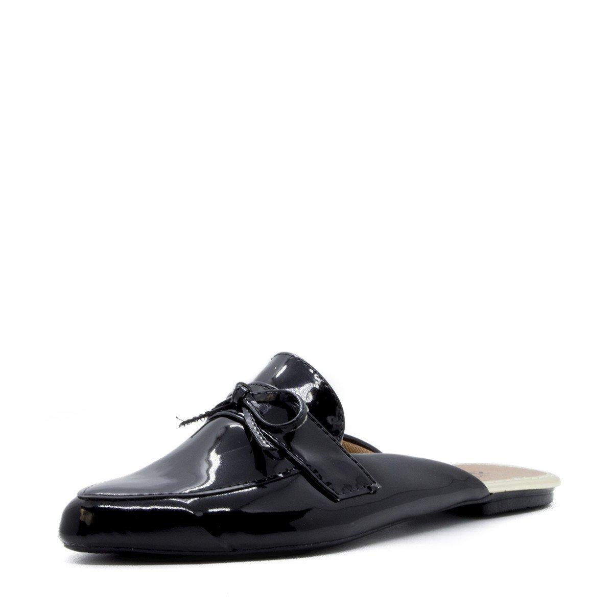 5082728287 Mocassim Mule Shoes Inbox Casual Laço Frontal em Verniz