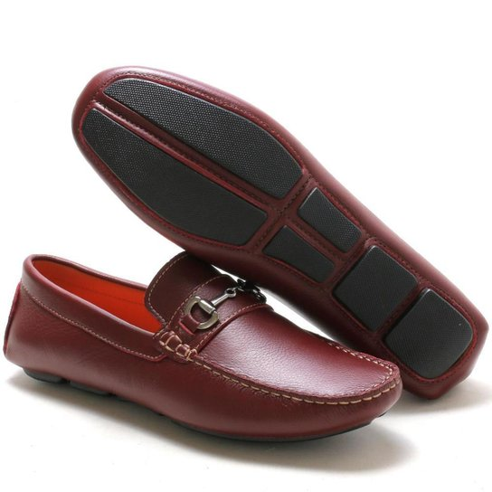 Mocassim Navit Shoes Driver Abridon Masculino - Vermelho