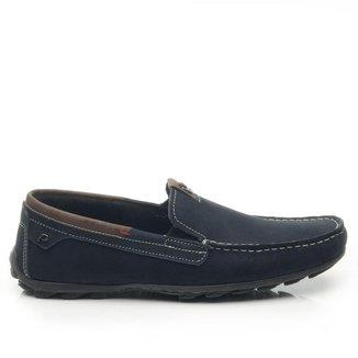 Mocassim Pegada Masculino em Couro Jeans Blue 140907-06