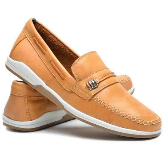 Mocassim Ruggero Sapato Clássico Masculino - Bege
