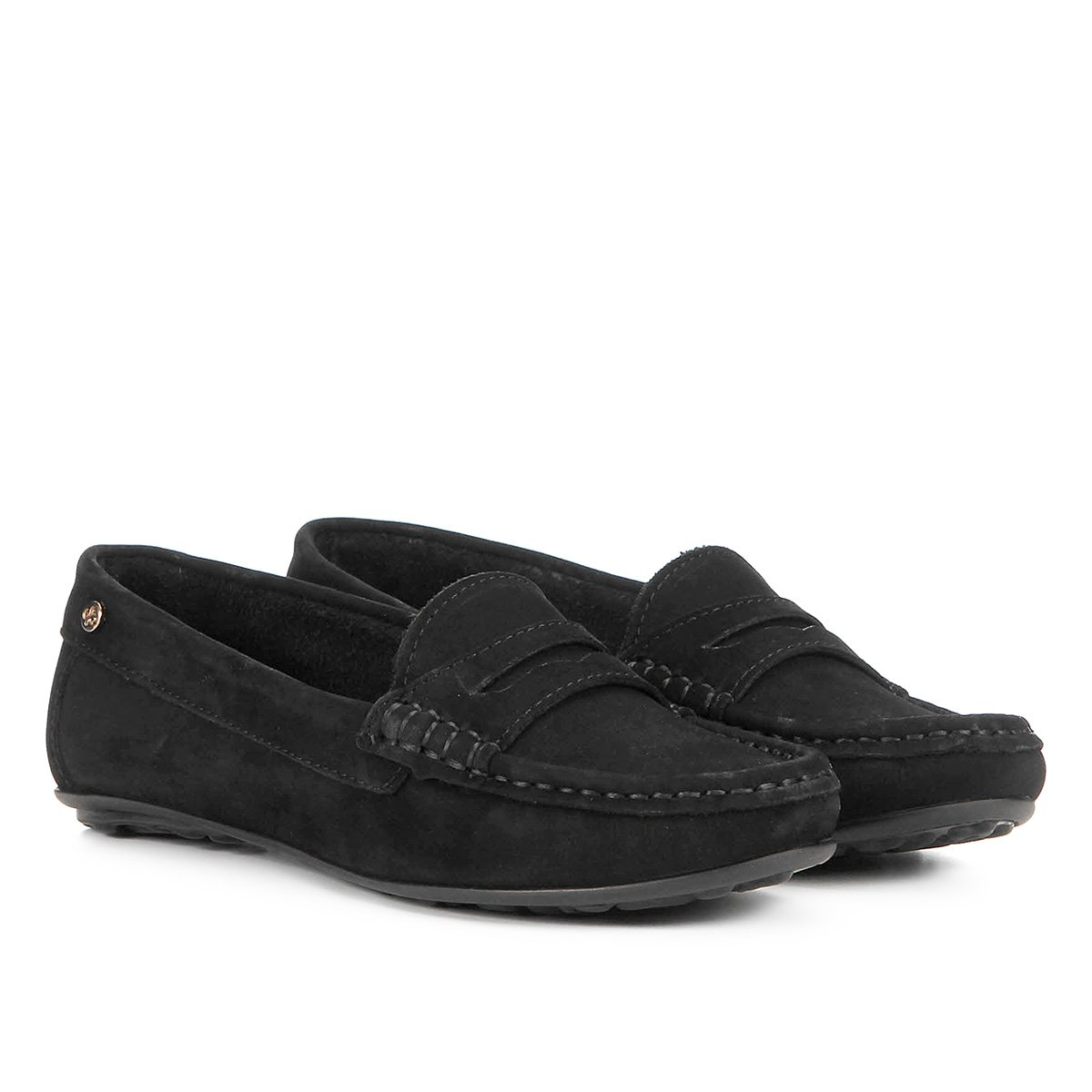 Mocassim Shoestock Nobuck Comfort Feminino - Preto