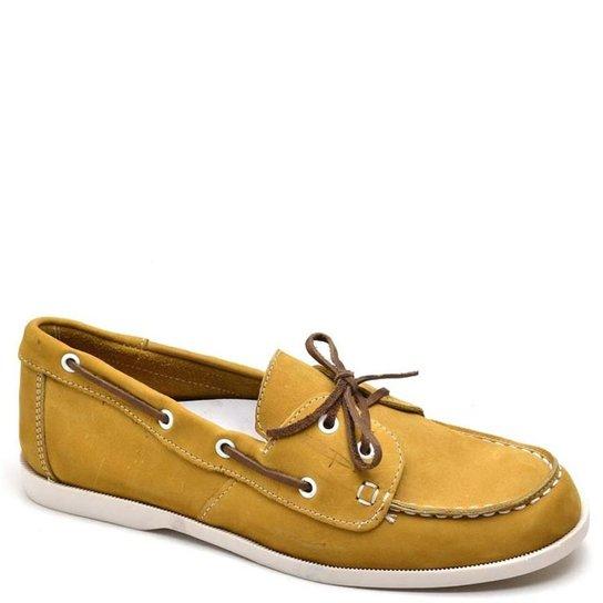 Mocassim Top Franca Shoes Casual Masculino - Amarelo