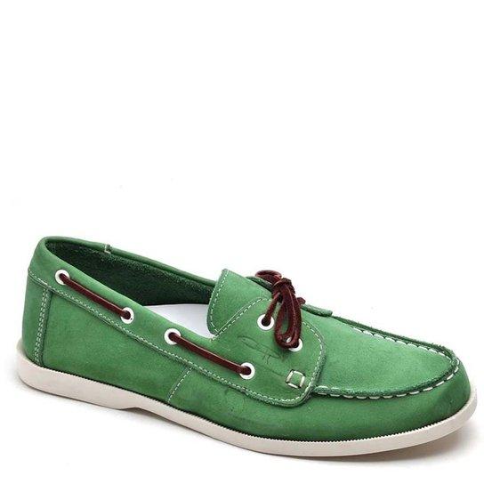Mocassim Top Franca Shoes Casual Masculino - Verde