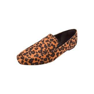 Mocassim Uzze Sapatos Animal Print Liso