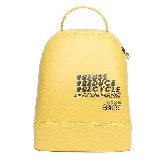 Mochila Colcci Lisboa Eco Soul Feminina - Amarelo