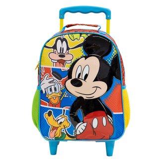 "Mochila com Rodinhas Infantil Xeryus Mickey 16"" Masculina"