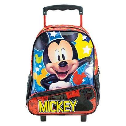 Mochila De Rodinha Infantil Xeryus Hey Mickey