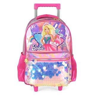 "Mochila De Rodinhas Infantil Luxcel Barbie 16"" Feminina"