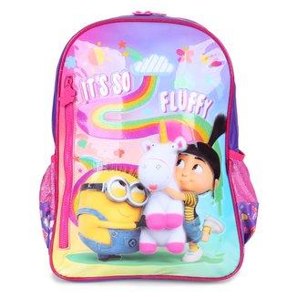 Mochila Escolar Infantil Clio Style Minions Fluffy Feminina