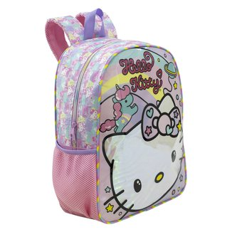 "Mochila Escolar Xeryus 16"" Hello Kitty Rainbow"