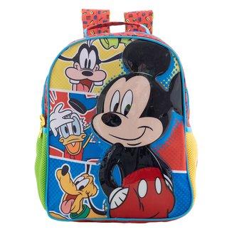 "Mochila Infantil Xeryus Mickey 16"" Feminina"