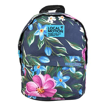 Mochila Isibras Local Motion Floral Hawaiian-Feminino