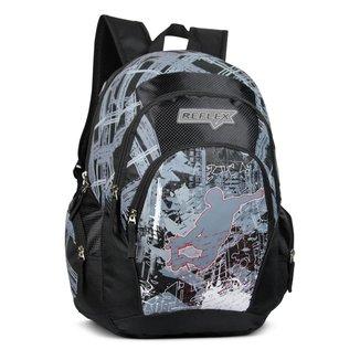 Mochila para Notebook LS Bolsas C/ compartimento estofado P/ notebook divisão frontal 3 bolsos