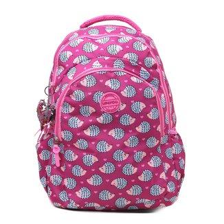 Mochila Up4You Básica Estampada Com Charm Bag