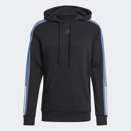 Moletom Adidas Color Block Linear Canguru Masculino