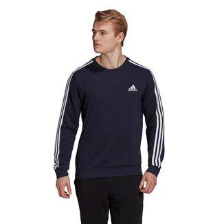 Moletom Adidas Essentials 3 Listras Masculino
