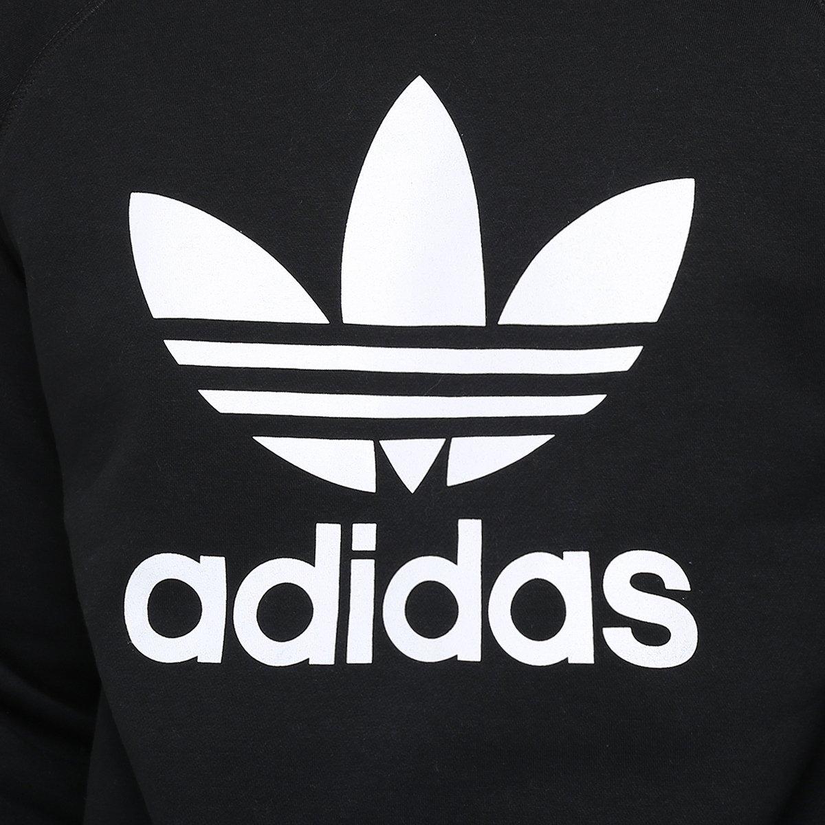 Moletom Adidas Trefoil Flee Crew - Compre Agora  c4652eccb9f