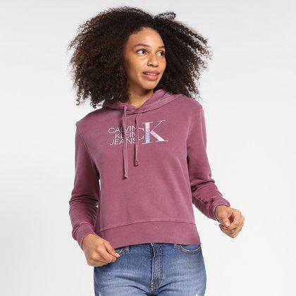 Moletom Calvin Klein Com Capuz Pig Logo Furtacor Feminino