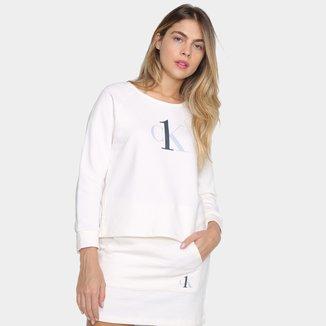 Moletom Calvin Klein Logo Feminino