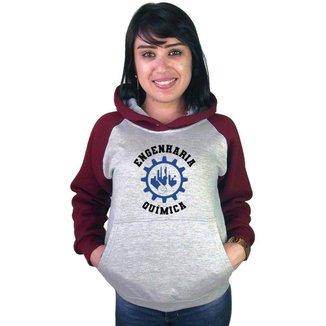 Moletom Canguru Feminino Raglan Faculdade Curso Engenharia Química