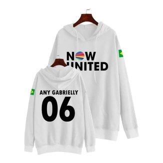 Moletom Canguru Musica Now United Any Gabrielly 06 Feminino