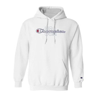 Moletom Champion Felpado c/ Capuz USA Script Logo