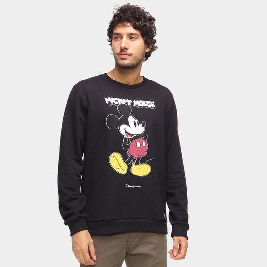 Moletom Colcci Disney Mickey Masculino - Preto