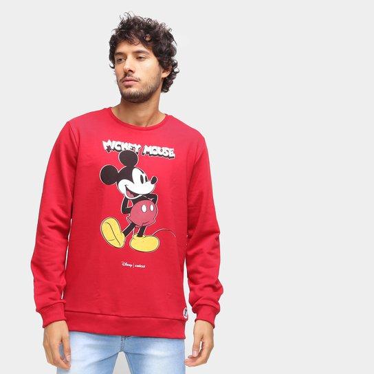 Moletom Colcci Disney Mickey Masculino - Vermelho