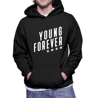 Moletom Criativa Urbana Kpop Young Forever Estilo