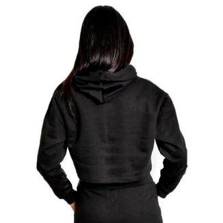 Moletom Crooped Capuz Feminina Lisa Macia Básica Confortável