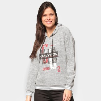 Moletom Extin Estampado New York Capuz Feminino