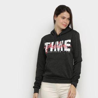 Moletom Facinelli Fashion Time Capuz Feminino