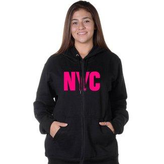Moletom Feminino Aberto Estampa New York City