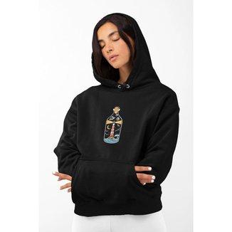 Moletom Feminino GinTropical Farol em algodão com capuz