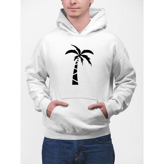 Moletom  Gin Tropical  Coqueiro Masculina - Branco