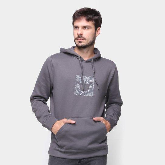 Moletom Hang Loose Fc Logoswell Canguru Masculino - Chumbo