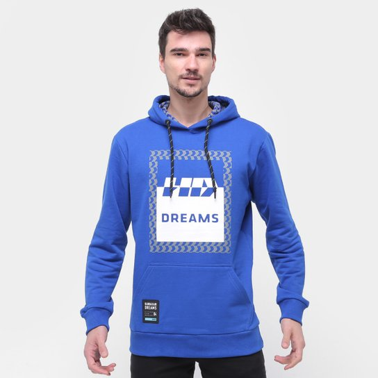 Moletom HD Canguru Dreams Masculino - Azul