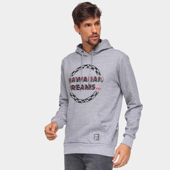 Moletom HD Style Canguru Masculino - Cinza