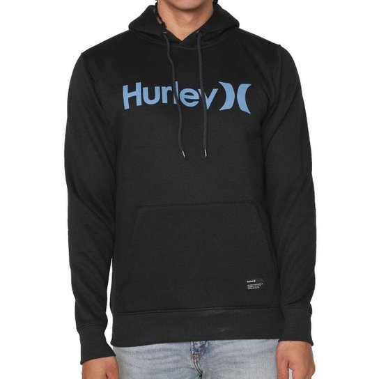 Moletom Hurley Fechado O&O Solid Masculino - Preto
